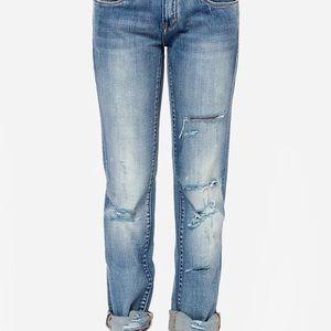 Blank NYC distressed straight leg jeans